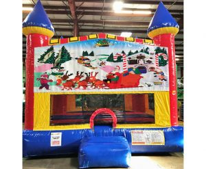 Christmas Themed Santa Claus Castle Bounce House Rental Cincinnati Ohio