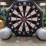 Giant Inflatable Soccer Kick Darts Bullseye Velcro Arrow Rental Cincinnati Ohio