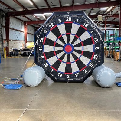 Giant Inflatable Soccer Kick Darts Bullseye Velcro Arrow Rental Cincinnati Ohio