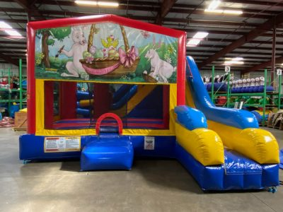 Easter Playhouse Inflatable Bounce House and Slide Combo Rental Cincinnati Ohio