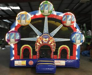 Ferris Wheel Carnival Bounce House with Lights Inflatable Rental Cincinnati Ohio