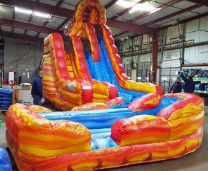 """Fire """"N"""" Ice Dual Lane Inflatable Water Slide Rental Cincinnati Ohio"""