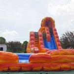 "Fire ""N"" Ice Dual Lane Inflatable Water Slide Rental Cincinnati Ohio"
