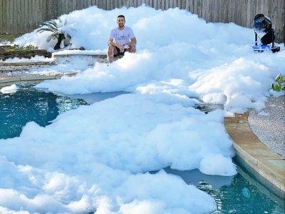Foam Cannon - Backyard Foam Pool Party Rental Cincinnati Ohio