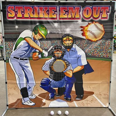 Carnival Frame Game Baseball Toss Rental Cincinnati Ohio