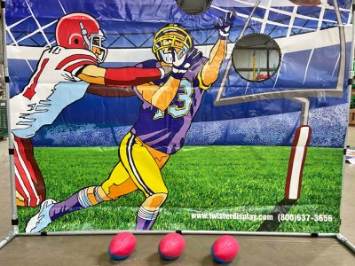 Carnival Frame Game Quarterback Football Toss Rental Cincinnati Ohio