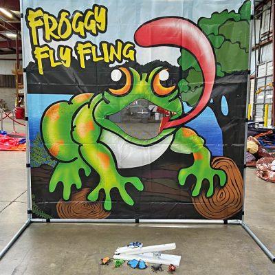 Carnival Froggy Fly Fling Frame Game Rental Cincinnati Ohio