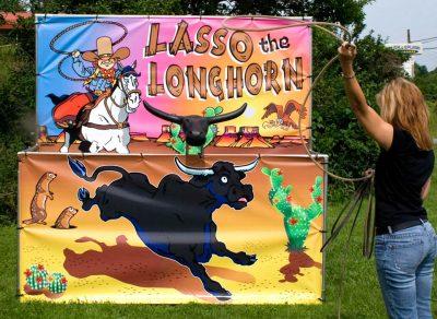 carnival frame game lasso the longhorn bull cow rental cincinnati
