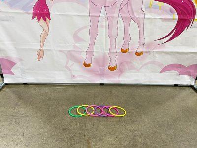 Carnival frame game ring the unicorn with fairies and rainbow rental cincinnati ohio