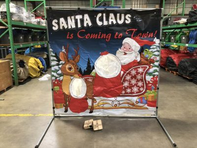 Carnival frame game santa claus rudolph christmas rental cincinnati ohio