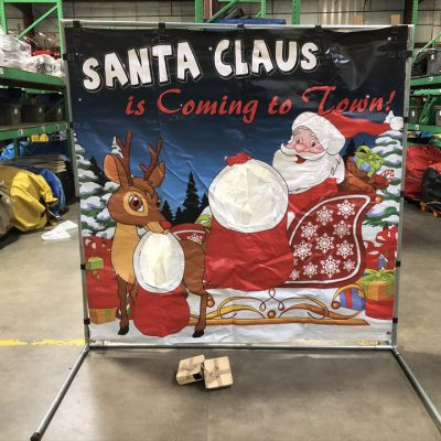 Carnival frame game santa claus rudolph christmas rental cincinnati ohio