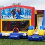 Elsa Frozen Playhouse Inflatable Bounce House and Slide Combo Rental Cincinnati Ohio