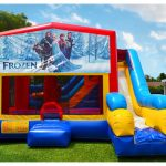 Elsa Frozen Playhouse Inflatable Bounce House and Slide Combo Rental Cincinnati Ohio