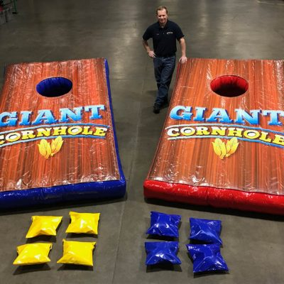Giant inflatable cornhole game rental cincinnati ohio