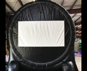 Giant Inflatable Soccer Kick Darts Bullseye Velcro Arrow Inflatable Movie Screen Rental Cincinnati Ohio