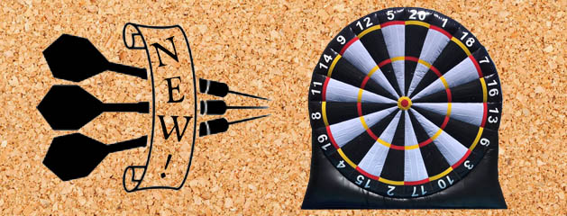 GIANT DART BOARD added to inventory!
