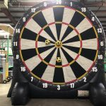 Giant Inflatable Soccer Kick Darts Bullseye Velcro Rental Cincinnati Ohio
