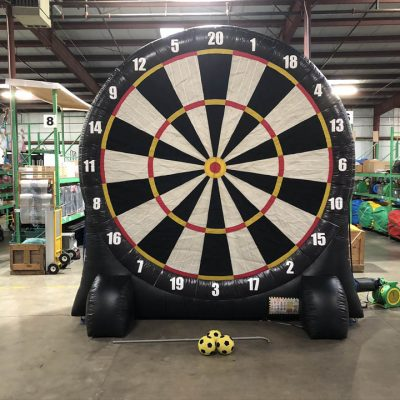 Giant Inflatable Soccer Kick Darts Bullseye Velcro Rental Cincinnati Ohio