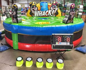 Giant, Inflatable Human Whack-A-Mole with lights Rental Cincinnati Ohio