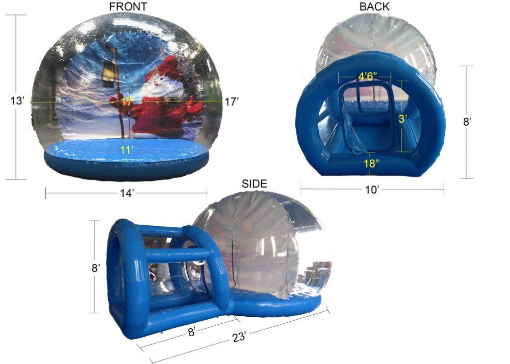 Giant Inflatable Snow Globe Cincinnati Ohio