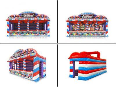 Grand Carnival Midway - Inflatable Carnival Booth Trailer Rental - Cincinnati, Ohio