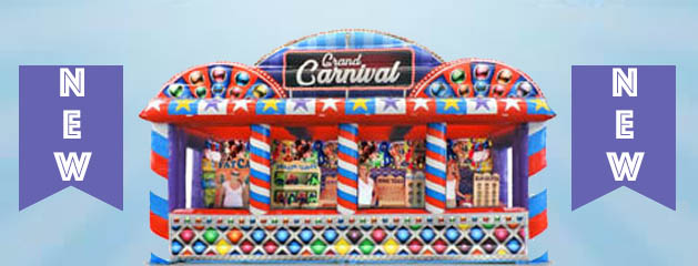 Grand Carnival Midway – Inflatable Ticket | Game | Concession | Prize Booth is here for your next Carnival or Festival Event Rental!