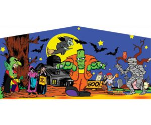Panel Halloween Theme Bounce House and Inflatable Combo Rental