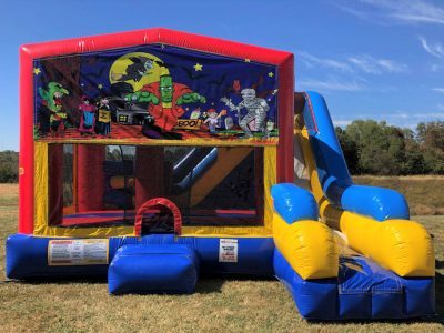 Halloween Playhouse Inflatable Bounce House and Slide Combo Rental Cincinnati Ohio