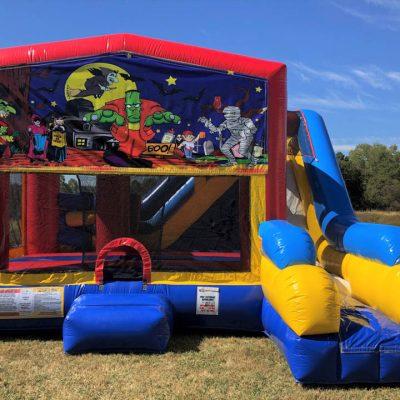 Halloween Playhouse Inflatable Bounce House and Slide Combo Rental Cincinnati Ohio