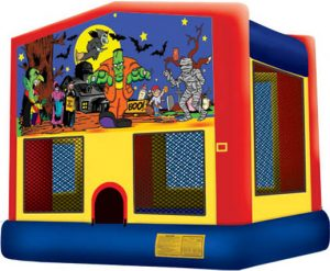 Halloween Theme Bounce House and Inflatable Combo Rental