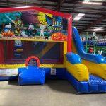 Happy Haunting Playhouse Inflatable Bounce House and Slide Combo Rental Cincinnati Ohio