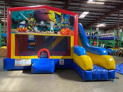 Happy Haunting Playhouse Inflatable Bounce House and Slide Combo Rental Cincinnati Ohio
