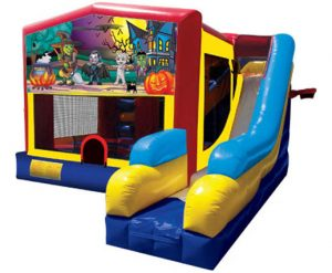 Halloween Happy Haunting Playhouse Inflatable Bounce House and Slide Combo Rental Cincinnati Ohio