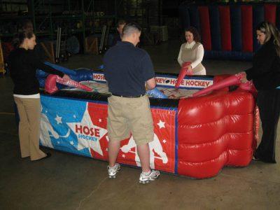 Hose Hockey inflatable air hockey rental cincinnati ohio