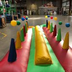 Inflatable hoverball air ball race game rental cincinnati ohio