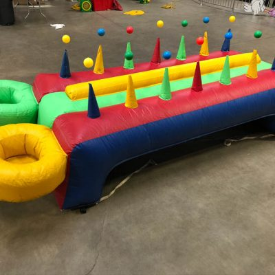 Inflatable hoverball air ball race game rental cincinnati ohio