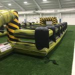 Inflatable giant human foosball game rental cincinnati ohio