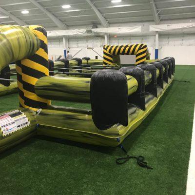 Inflatable giant human foosball game rental cincinnati ohio