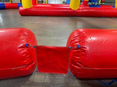 Inflatable Race Track for tricycles, toilet racers, big wheels rental cincinnati ohio