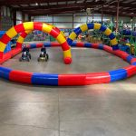 Inflatable Race Track and Competition Race Kart Pedal Go Cart Rental Cincinnati Ohio