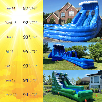 Inflatable Water Slide Rentals Cincinnati Northern Kentucky_Summer 2020