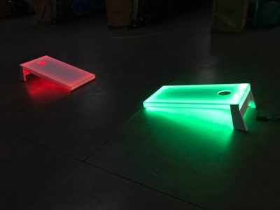 LED Glow in the dark Cornhole game rental cincinnati ohio