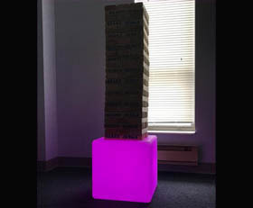 LED Glow Giant Oversized Jenga Rental Cincinnati Ohio