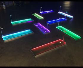 LED GLOW Portable Mini Golf - 3 6 9 18 Hole Rental Cincinnati Ohio