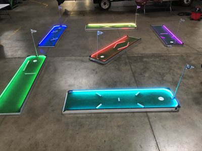LED GLOW Portable Mini Golf - 1 3 6 9 Hole Rental Cincinnati Ohio