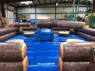Inflatable Mechanical Redneck Log Slammer Wipeout Meltdown Rental Cincinnati Ohio
