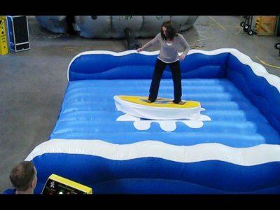 Inflatable Mechanical Surfboard Skateboard Snowboard Simulator Rental Cincinnati, Ohio