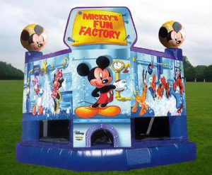Walt Disney's Mickey Mouse Fun Factory Inflatable Bounce House Rental Cincinnati Ohio