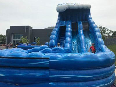 Monster Wave Dual Lane Inflatable Water Slide Rental Cincinnati Ohio