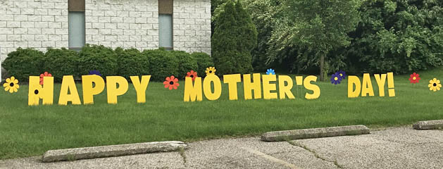Mother's Day Yard Sign Yard Greeting Card Party Rental Cincinnati Ohio